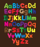 Alphabet bubble colored hand drawing Royalty Free Stock Photo