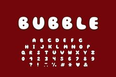 Alphabet bubble design. Upper case English letters. Bold font clip art, typography style. Vector illustration. EPS 10. Alphabet bubble design. Upper case letters royalty free illustration
