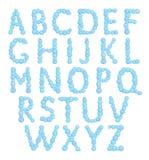 Alphabet, bubbles letters, foam font, vector Stock Photos