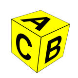 Alphabet-Buchstabe ABC würfeln stock abbildung