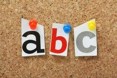 Alphabet-Buchstaben Lizenzfreies Stockfoto
