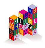 Alphabet building brick Stock Image