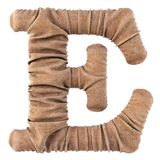 Alphabet burlap. Alphabet made from burlap. Isolated on white. 3D illustration royalty free illustration