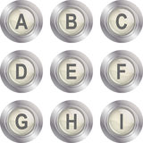 Alphabet Button - A-I Royalty Free Stock Image