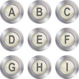 Alphabet Button - A-I royalty free illustration
