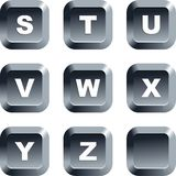 Alphabet buttons vector illustration