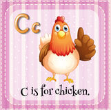 Alphabet C is for chicken Royalty Free Stock Images