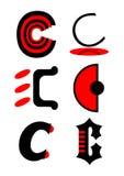 alphabet c icons logos vector Arkivbilder