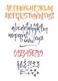 Alphabet calligraphique de vecteur écrit avec le pinceau illustration libre de droits