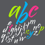 The alphabet in calligraphy brush. Stock Image