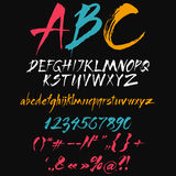 The alphabet in calligraphy brush. Stock Images