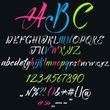 The alphabet in calligraphy Stock Photo
