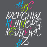 The alphabet in calligraphy Stock Photos