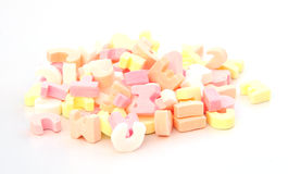 Alphabet candy Royalty Free Stock Images