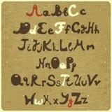 Alphabet - capital et lettre minuscule Image libre de droits