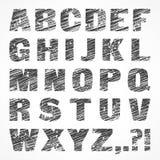 Alphabet caps on white Stock Images