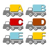 Alphabet car truck Royalty Free Stock Image