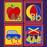 Alphabet Cards Stock Photography