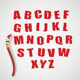 Alphabet and cartoon brush Stock Photo