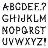 Alphabet. Cartoon fictional animal shakily crawling line drawing. Hand drawn alphabet. Cartoon fictional animal shakily crawling line drawing decorative font vector illustration