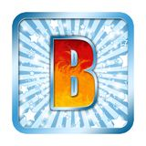 Alphabet Celebration letters - B Royalty Free Stock Photography