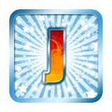 Alphabet Celebration letters - J Royalty Free Stock Photos