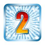 Alphabet Celebration number - 2 two Royalty Free Stock Image