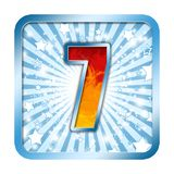 Alphabet Celebration numbers 7 seven Royalty Free Stock Photography