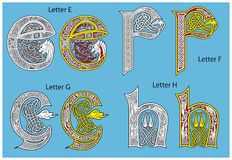 Alphabet celtique antique Photos libres de droits