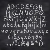 Alphabet in chalk. Vector illustration of alphabet in chalk Royalty Free Stock Photos