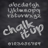 Alphabet in chalk Stock Photos