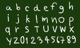 Alphabet chalk royalty free stock photo