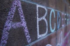 Alphabet Chalk Royalty Free Stock Images