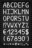 Alphabet on chalkboard Stock Image