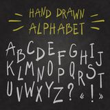 Alphabet on chalkboard. Royalty Free Stock Photography