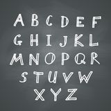 Alphabet on Chalkboard Stock Photos