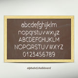 Alphabet chalkboard Royalty Free Stock Photo