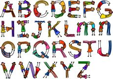 Alphabet Character Children Stock Photos