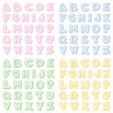 Alphabet Checkered, quatre couleurs en pastel illustration libre de droits