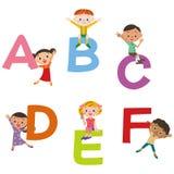 The alphabet and children Stock Photos