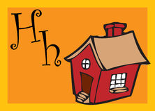 Alphabet for children. Education (H Stock Photography