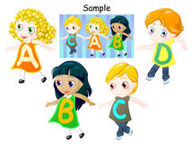 Alphabet of childrens Stock Photo