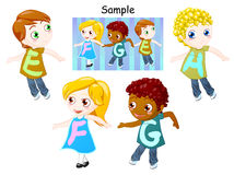 Alphabet of childrens Stock Image