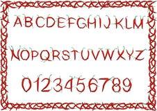 Alphabet of chili Royalty Free Stock Photo