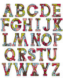 Alphabet in Christmas colors Stock Images