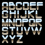 Alphabet chrome. Sign graphic text Royalty Free Stock Photography