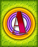 alphabet circular Στοκ Εικόνα
