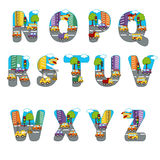 Alphabet city from N to Z Stock Images