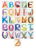 Alphabet,CMYK. Alphabet,set letters with words Stock Image