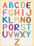 Alphabet,CMYK Royalty Free Stock Photo
